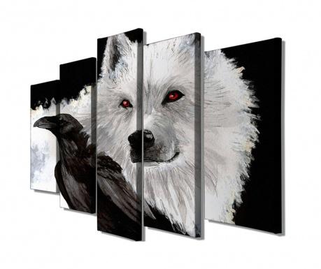 Sada 5 obrazů Wolf
