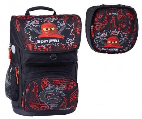 Set - nahrbtnik in športna torba Ninjago Master of Spinjitzu Lego Optimo