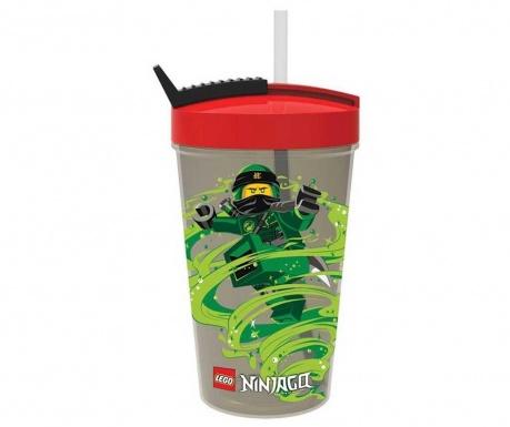 Skodelica s pokrovom in slamico Ninjago Warrior Lego 500 ml