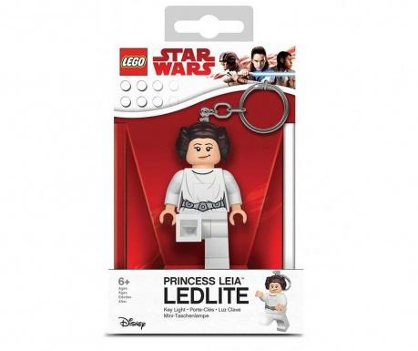 Obesek za ključe z lučko Lego Princess Leia