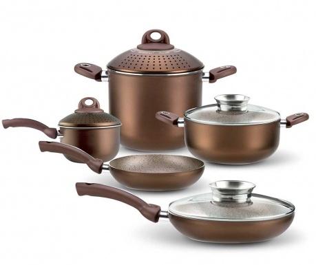 Siedmioczęściowy zestaw naczyń do gotowania Uniqum Choco