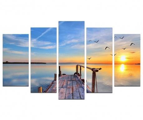 Set 5 tablouri Sun Is Always Rising
