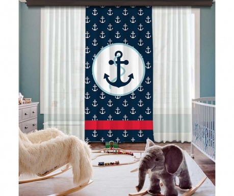 Draperia Anchor Multi White 140x260 cm