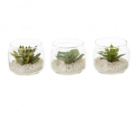 Set 3 plante artificiale in ghiveci Minimalist