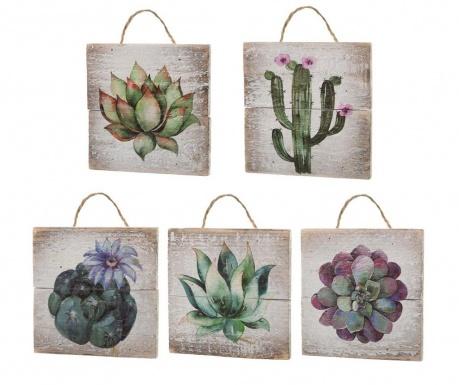 Zestaw 5 dekoracji ściennych Desert Flowers