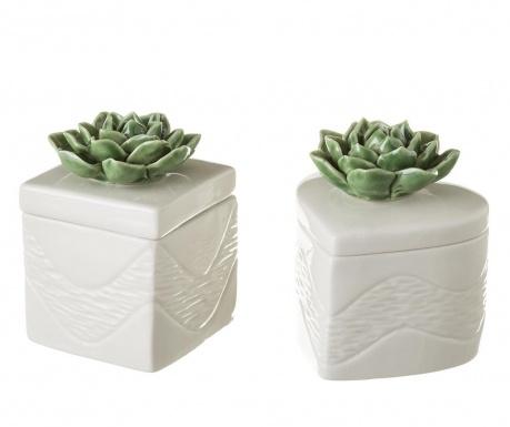 Zestaw 2 szkatułek na biżuterię Plant Lover