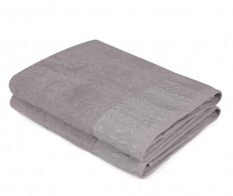 Zestaw 2 ręczników kąpielowych Pamela Grey 90x150 cm