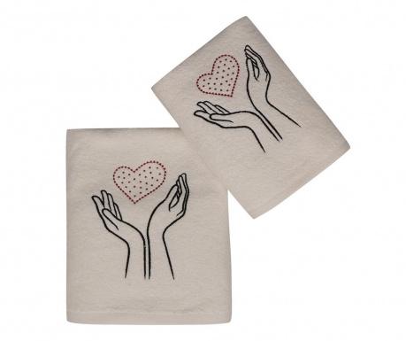 Комплект 2 кърпи за баня Baskili Ikili