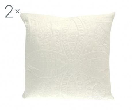 Zestaw 2 poszewek na poduszkę Parisienne Cream 43x43 cm