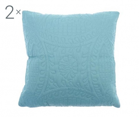 Set 2 jastučnice Parisienne Azure 43x43 cm