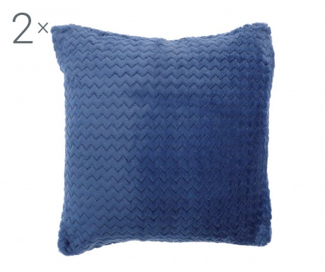 Set 2 fete de perna Chevron Blue 43x43 cm