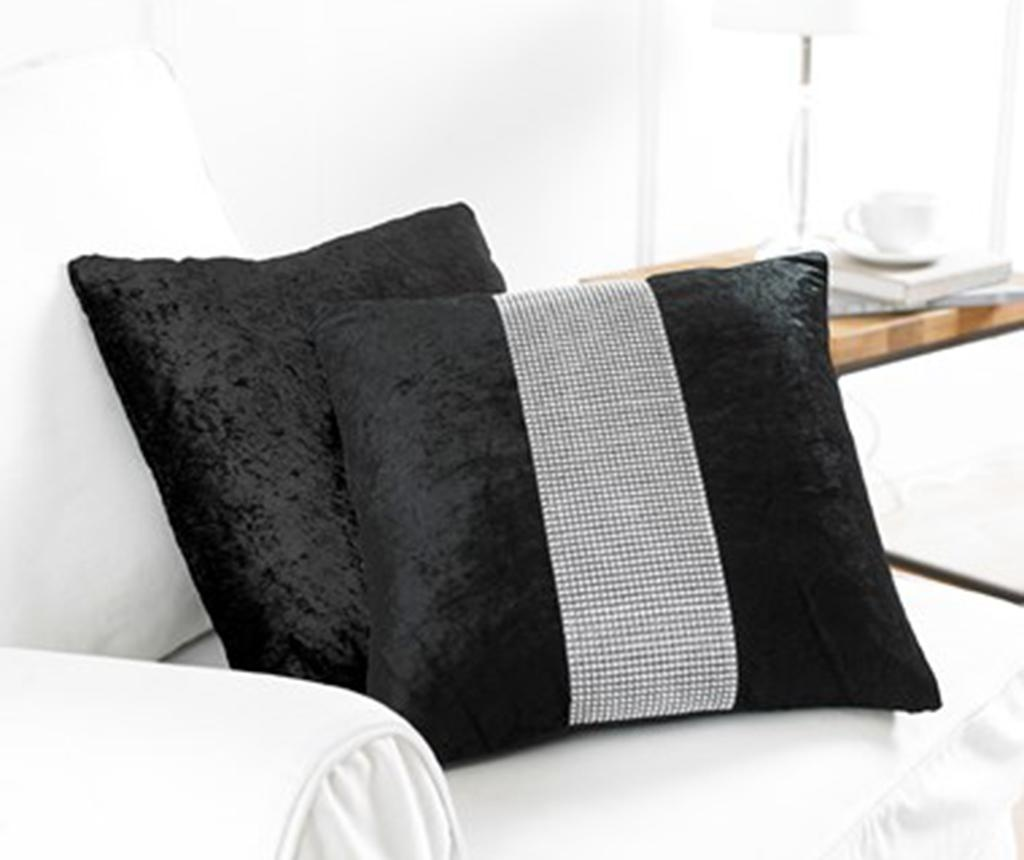 Set 2 fete de perna Diamante Black 43x43 cm