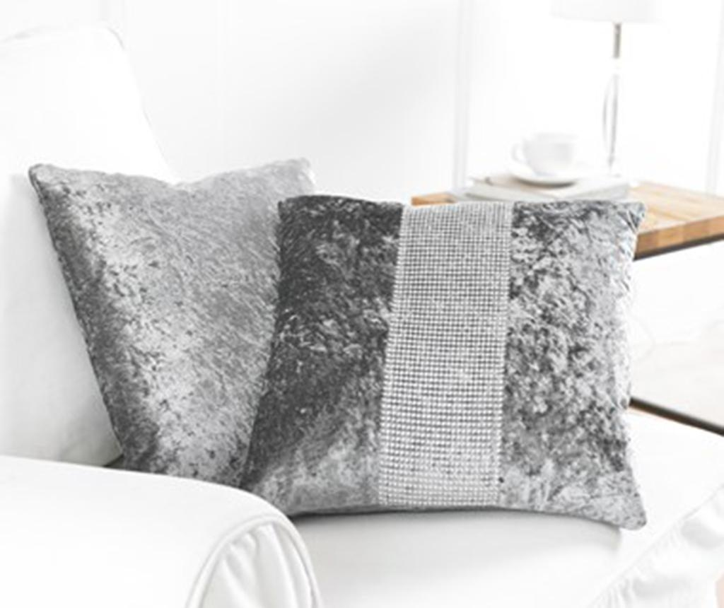 Set 2 fete de perna Diamante Grey 43x43 cm