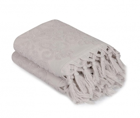 Set 2 kupaonska ručnika Baglamali Kilim Grey 50x90 cm