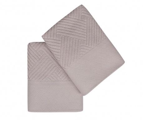 Sada 2 ručníků Esse Bordur Lilac 50x90 cm