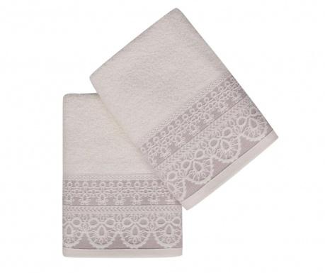 Set 2 kupaonska ručnika Elif Lilac 50x90 cm