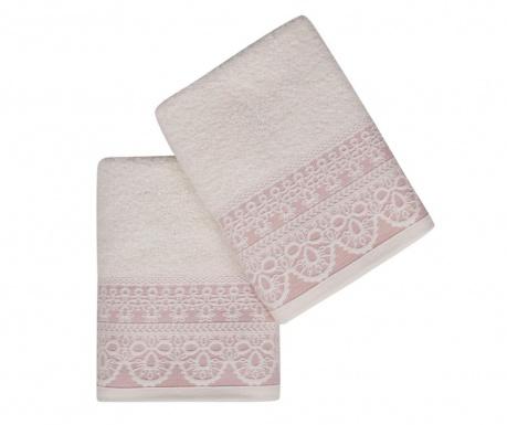 Комплект 2 кърпи за баня Elif Pink 50x90 см