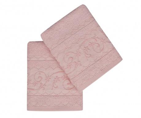 Set 2 kupaonska ručnika Lucca Pink 50x90 cm