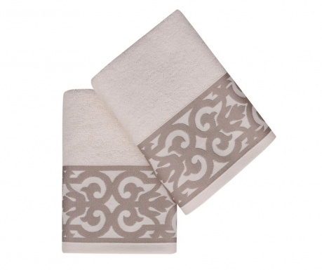 Set 2 prosoape de baie Monaco Brown 50x90 cm