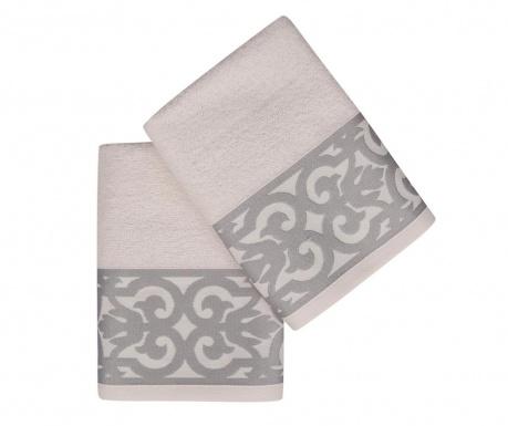 Set 2 kupaonska ručnika Monaco Grey 50x90 cm