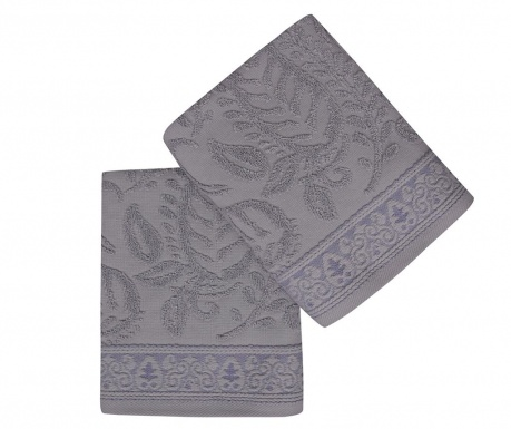 Set 2 kupaonska ručnika Noktali Sal Purple 50x90 cm