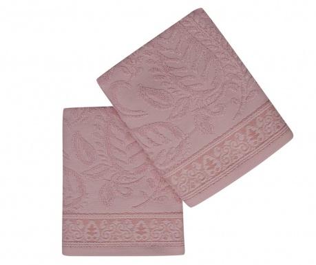 Set 2 prosoape de baie Noktali Sal Pink 50x90 cm