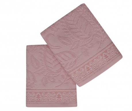 Set 2 kupaonska ručnika Noktali Sal Pink 50x90 cm