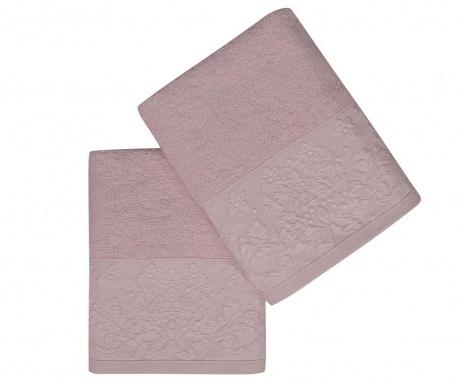 Комплект 2 кърпи за баня Saltanat Lilac 50x90 см