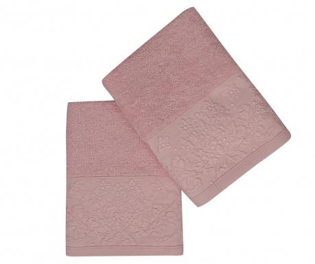 Комплект 2 кърпи за баня Saltanat Pink 50x90 см