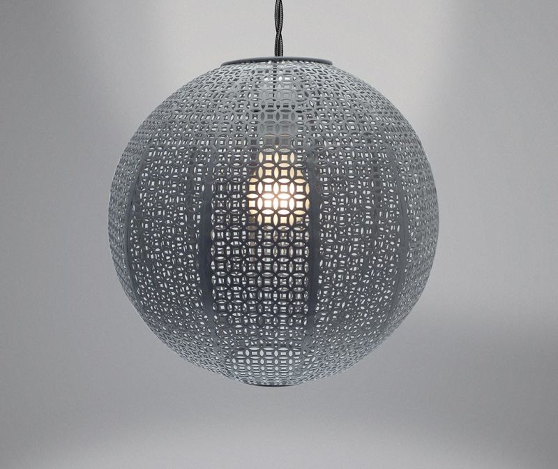 Senčilo za svetilko Nouveau Cadiz Grey