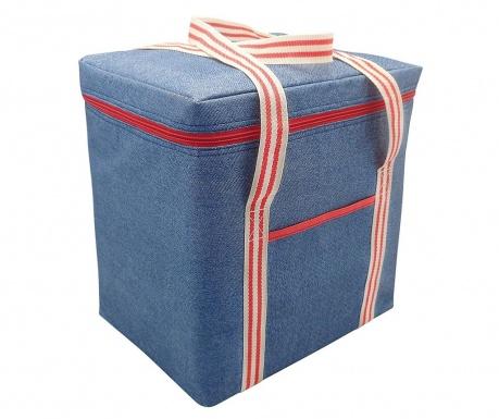 Термоизолираща чанта Tamsin Denim Blue Red 28 L