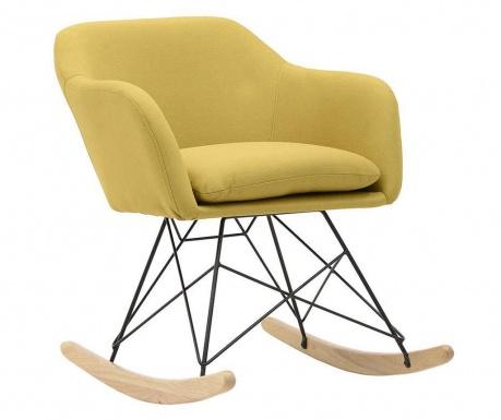 Krzesło na biegunach Luton Mustard