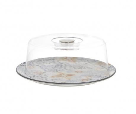Servirni krožnik s kupolo Mosaic Round