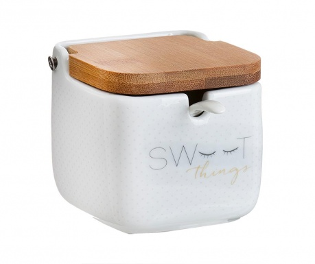 Комплект захарница с капак и лъжичка Sweet Square