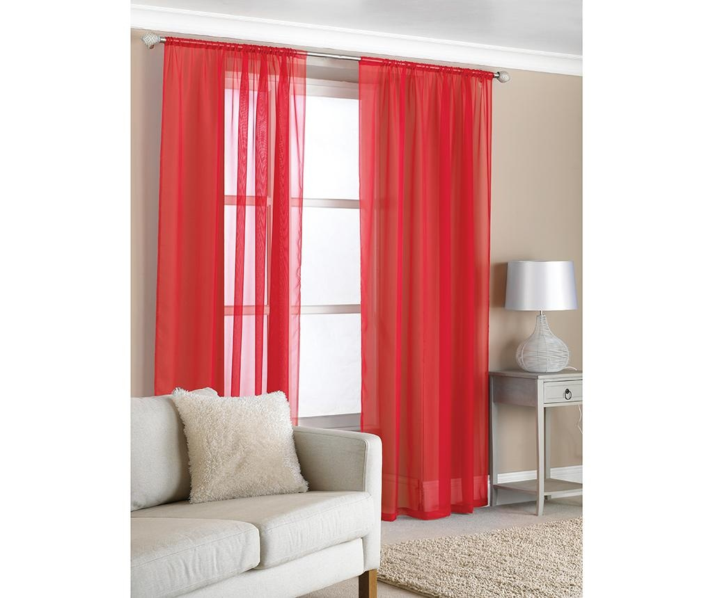Set 2 perdele Slot Red 122x150 cm