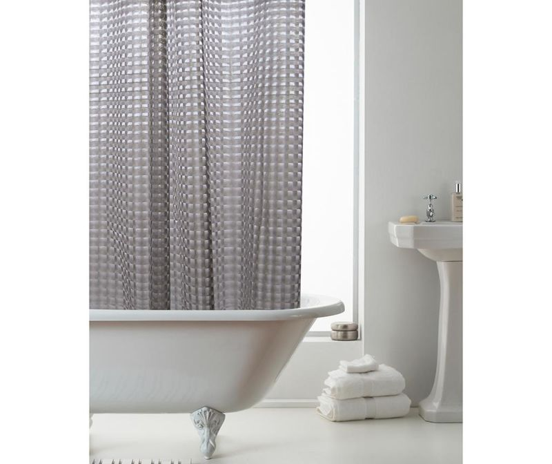 Zavesa za prho Effect Smoke Grey 180x180 cm