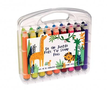 Set 18 flomastrov-markerjev In the Jungle