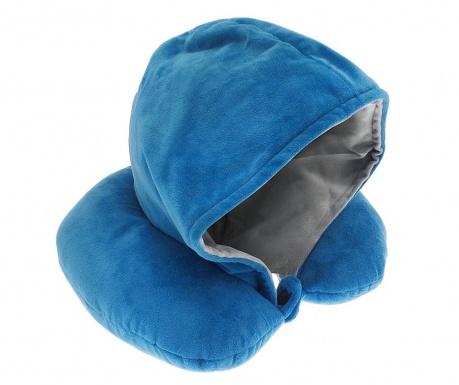 Putni jastuk s kapuljačom Rialta Blue