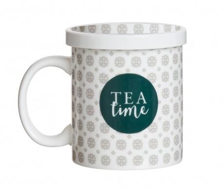 Hrnek s víčkem a infuzérem Tea Time