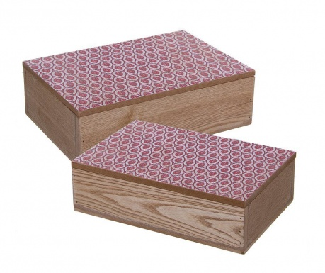 Set 2 cutii cu capac Wild