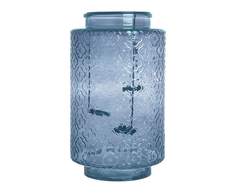 Suport pentru lumanari Glass Blue Three