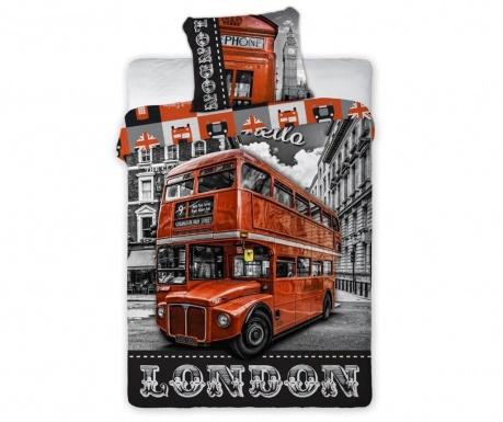 Σετ κλινοσκεπάσματα Μονό Extra Ranforce London Bus