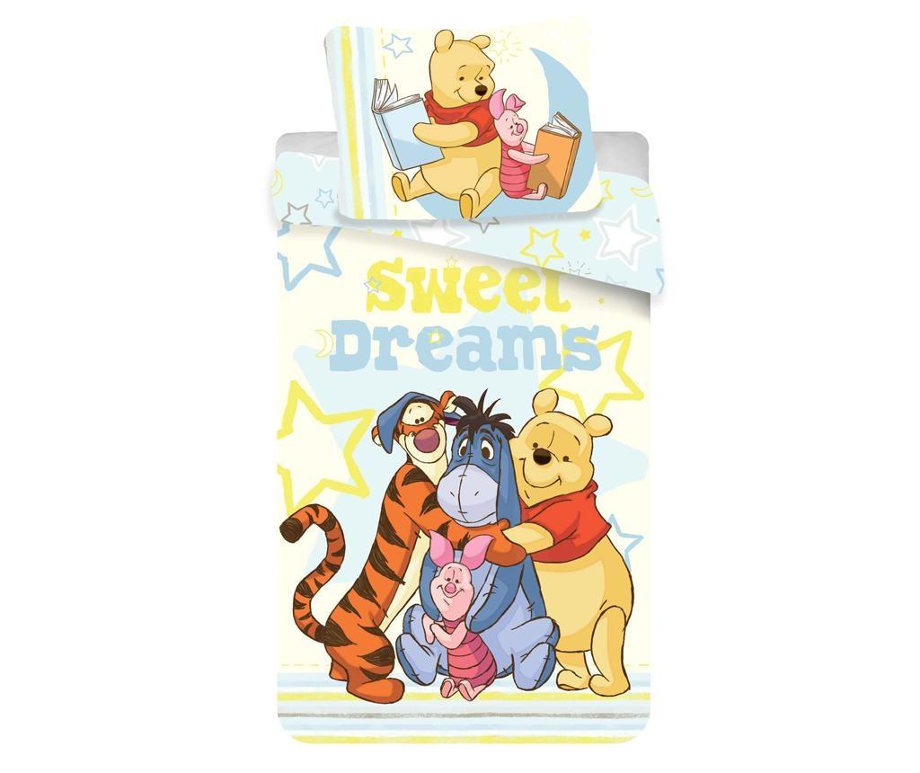 Posteljnina Single Ranforce Winnie the Pooh Sweet Dreams