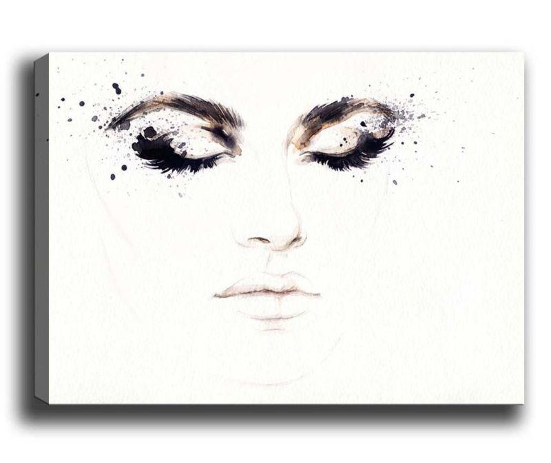 Tablou Eyelashes 100x140 cm