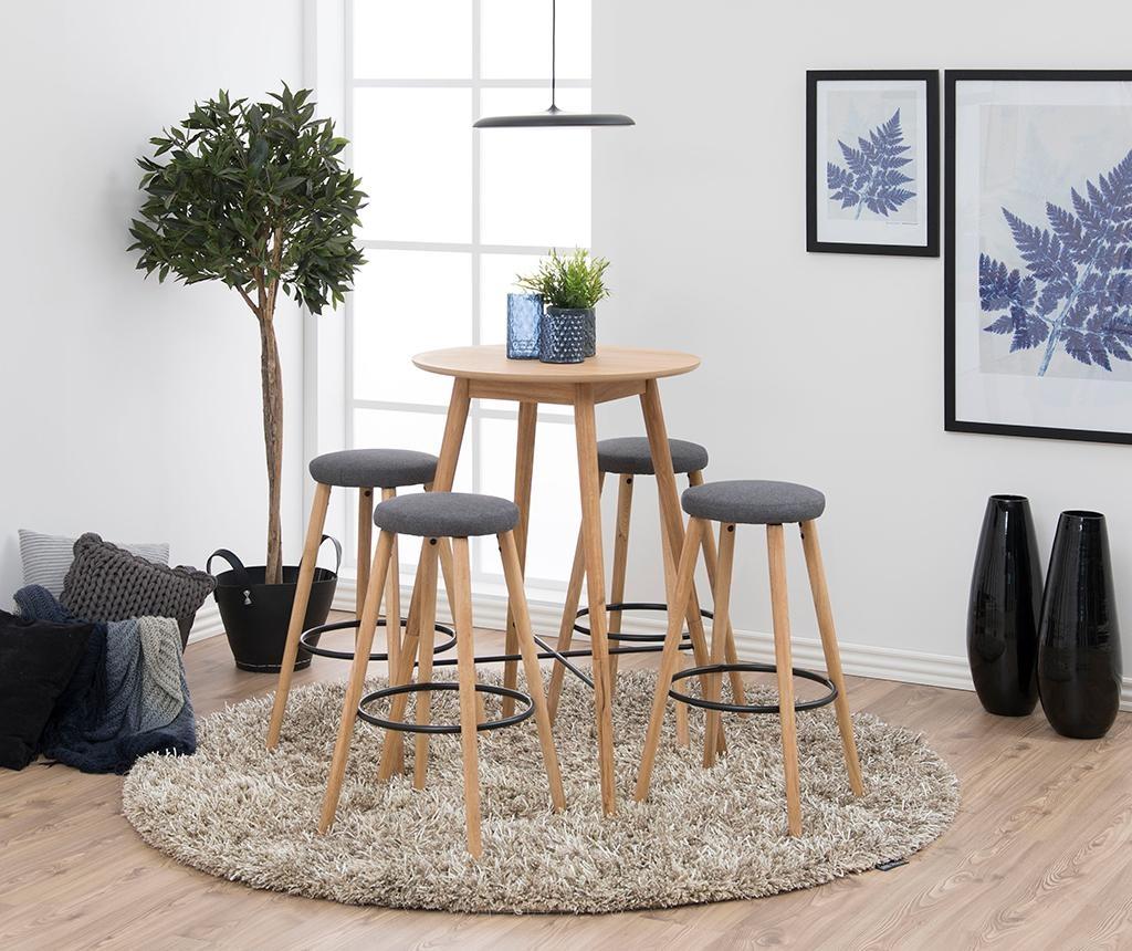 Sada 2 barových židlí Hector Grey Nature