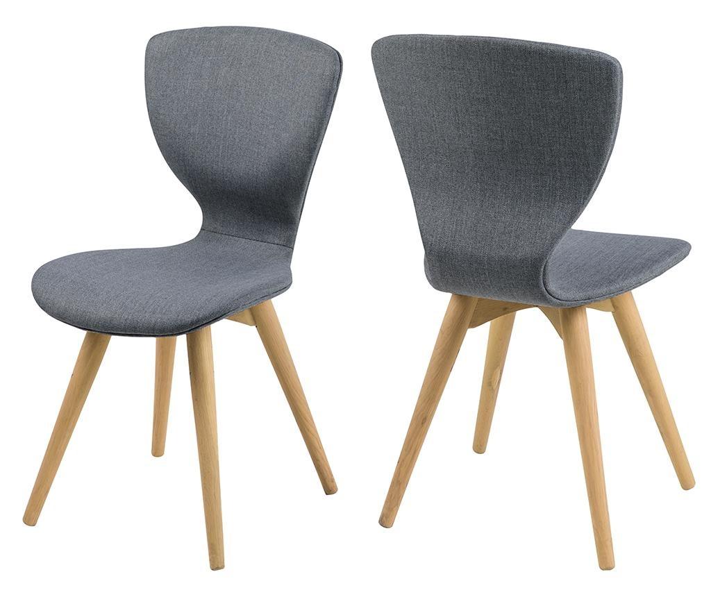 Set 2 stolice Gongli Dark Grey