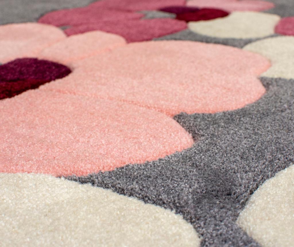 Blossom Charcoal Pink Szőnyeg 80x150 cm