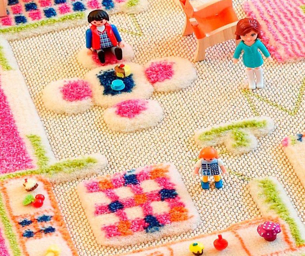 Covor de joaca Playhouse S 3D Pink 80x113 cm
