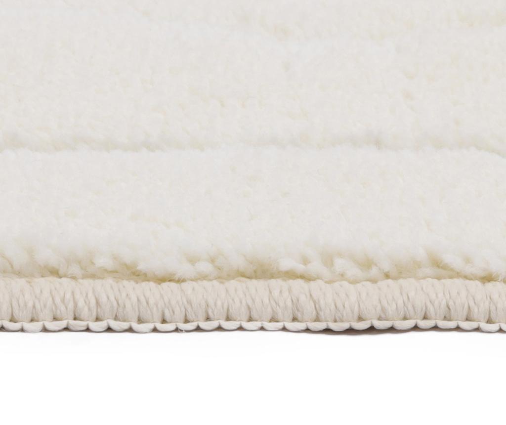 Gouadeloupe White Fürdőszobai szőnyeg 67x120 cm