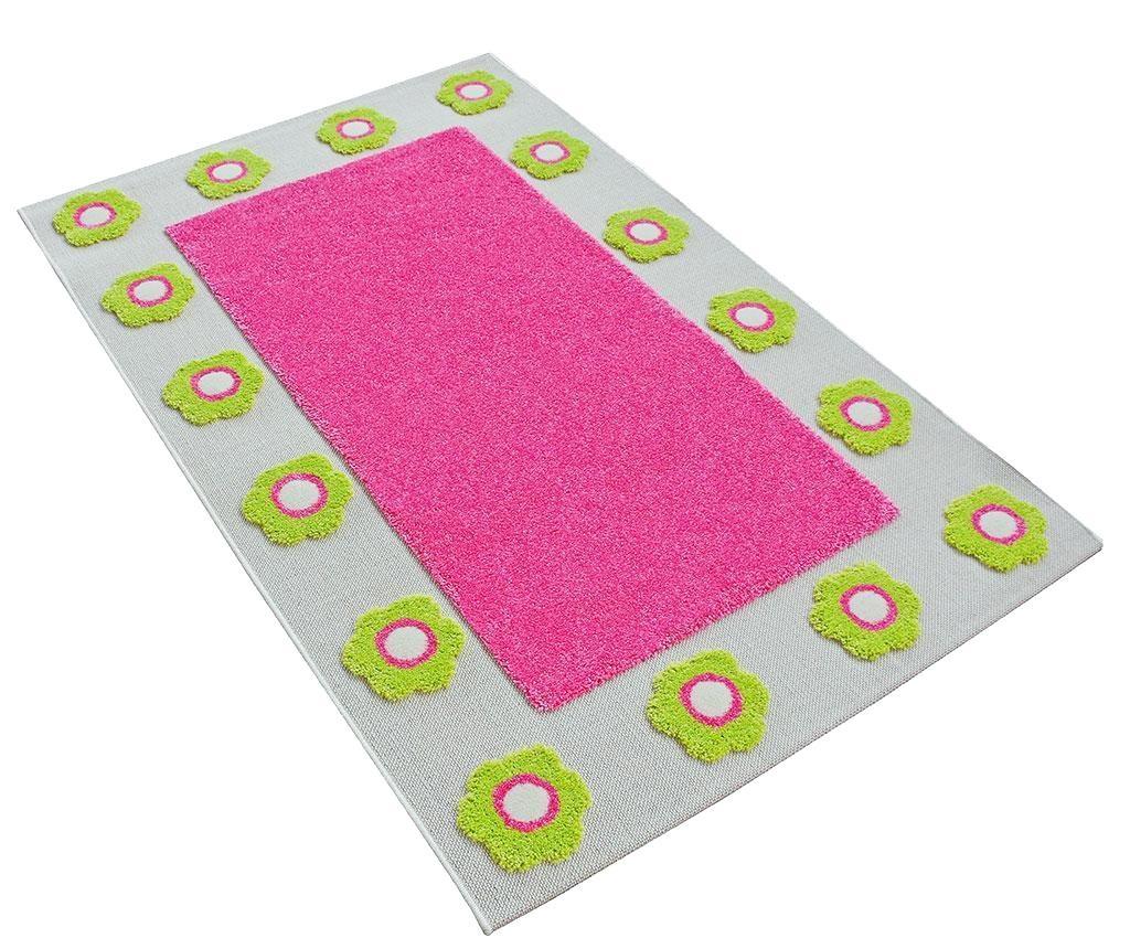 Koberec Mina Border 3D Pink 80x150 cm